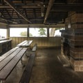 Covered picnic shelter and area at Salt Creek Recreation Area.- Salt Creek Recreation Area