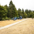Playing field, basketball court and playground at Salt Creek Recreation Area.- Salt Creek Recreation Area