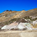 The Artist's Palette at Death Valley National Park.- Artist's Palette via Artist's Drive