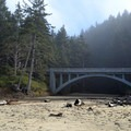 Highway 101 bridge over Cummins Creek.- Neptune State Scenic Viewpoint