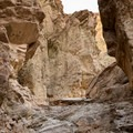 A few short, easy climbs.- Golden Canyon
