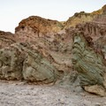 Diverse geological colors.- Golden Canyon