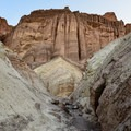 The Red Cathedral in Death Valley National Park.- Golden Canyon