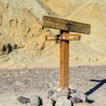 Trailhead to Gower Gulch via Golden Canyon Trail.- Golden Canyon