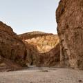 Starting the hike through Golden Canyon.- Golden Canyon