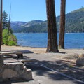 The park provides lakeside picnic areas with diablo grills and fantastic views. - Donner Memorial State Park