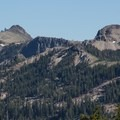 The Anderson Ridge, Anderson Peak (8,680') and Tinker Knob (8,950') as seen from near Mount Judah.- Mount Judah Loop
