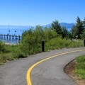The Tahoe City bike path runs through the SRA.- Tahoe State Recreation Area Campground