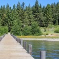 Pier view looking toward the campground.- Tahoe State Recreation Area Campground