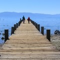 The Tahoe State Recreation Area pier.- Tahoe State Recreation Area Campground