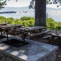 Group picnic and grill areas are available for rent for large events.- Commons Beach