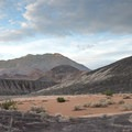 A mud flat at the top of the crater.- Ubehebe Crater