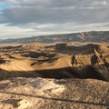 The view from the top of Ubehebe Crater.- Ubehebe Crater