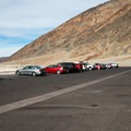 The Badwater parking lot.- Badwater Basin