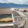 Informational diagrams at the parking lot.- Badwater Basin