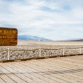 The lowest elevation in the North America.- Badwater Basin
