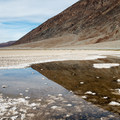 Where the water rises from the aquifer under Death Valley.- Badwater Basin