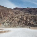 Amargosa Mountains from Badwater Basin.- Badwater Basin