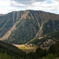 The view into Lake Creek Canyon from the Lake Creek Divide.- High Ridge Trail