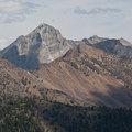 The Devil's Bedstead is clearly visible from from the overlook on the east ridge of Otto's Peak.- High Ridge Trail