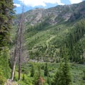 The view up the East Fork Canyon after turning sharply to the east at the 2-mile mark.- North Fork of the Big Wood - East Fork of the North Fork