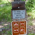 Trail sign at the North Fork of the Big Wood River parking lot.- North Fork of the Big Wood - Amber Lakes