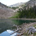 Middle Amber Lake (9,026 feet).- North Fork of the Big Wood - Amber Lakes