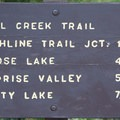 Trail sign at the beginning of the Fall Creek Trail.- Fall Creek Canyon Hike