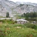 An unnamed pond at 9,455 feet just above Moose Lake.- Fall Creek - Moose Lake