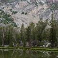 Lake 9,455 detail.- Fall Creek - Moose Lake