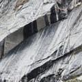 A striking corner awaits an intrepid climber.- Fall Creek - Moose Lake
