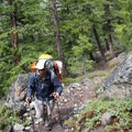 Perservering through the steep climb into Surprise Valley.- Fall Creek - Surprise Valley, Broad Canyon Divide