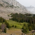 Clearing, a view up the canyon from the edge of Surprise Valley.- Fall Creek - Surprise Valley, Broad Canyon Divide