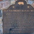 California Historical Marker 773.- Harmony Borax Works