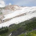 View of Roosevelt Glacier and Bastile Ridge.- Mount Baker via Coleman Glacier