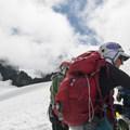 Keeping the map handy on the flanks of Mount Baker.- Mount Baker via Coleman Glacier