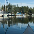 The Fair Harbor Marina offers a convenient place to put in.- Reach Island Sea Kayaking Circumnavigation
