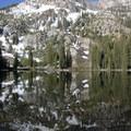 Marshall Lake reflection.- Marshall Lake