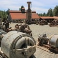Mine equipment exhibit.- Empire Mine State Historic Park