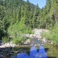 Wild Plum Campground sits on the banks of Haypress Creek.- Wild Plum Campground