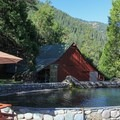 The resort stocks a trout pond and offers an option to catch your own dinner, prepared by their kitchen. - Herrington's Sierra Pines Resort