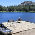 The boat dock.- Packer Lake Lodge