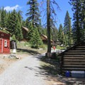 Both large and small cabins are available.- Packer Lake Lodge