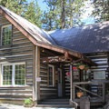 The lodge houses the resort dining room and a small store.- Sardine Lake Resort
