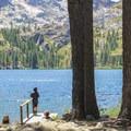 FIshing is the primary pastime at Lower Sardine Lake.- Sardine Lake Resort