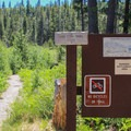 The Sand Pond Trail connects Sardine Lake via Sand Pond.- Sardine Lake Campground