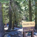 The trailhead and ADA-accessible trail.- Frazier Falls