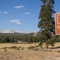 The Cathedral Lakes Trailhead begins in Tuolumne Meadows.- Cathedral Lakes Trail