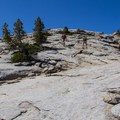 Switchbacks up to Sentinel Dome's summit.- Sentinel Dome - Taft Point Loop