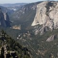 Looking down on Yosemite Valley from the Sentinel Dome on the Taft Point Loop Trail.- Sentinel Dome - Taft Point Loop